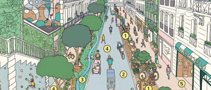 Burgemeester Parijs presenteert radicaal plan: in de toekomst alles binnen 15 minuten fietsen of lopen
