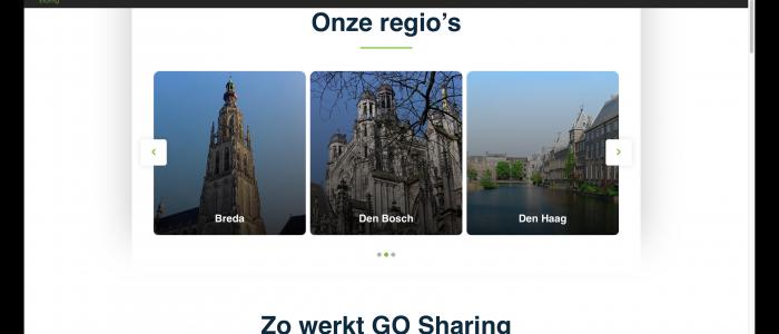 Breda en Den Bosch verschijnen ook op GO Sharing website