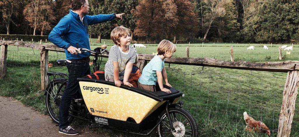 Cargoroo: bakfiets huren in Den Haag voor kinderen of boodschappen