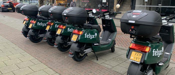Felyx heeft nu 1.000 scooters in Rotterdam, nieuwe scooters vooral met geel kenteken
